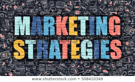 Multicolor Imarketing Strategy on Dark Brickwall. Doodle Style. Stock photo © tashatuvango
