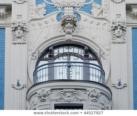 подробность арт нуво здании исторический центр Рига Сток-фото © 5xinc
