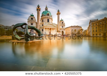 Long exposure of Karlskirche church in Vienna Austria Stock photo © tommyandone