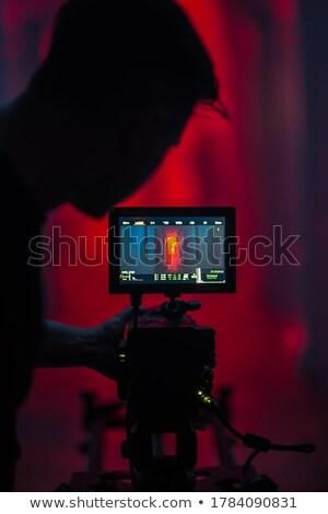 Closeup Camera Photo Lens with Video Production. Stock photo © tashatuvango