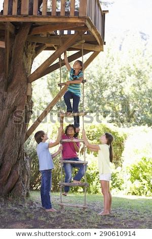 Erkek yardım kız çocuk eğlence tiyatro Stok fotoğraf © IS2