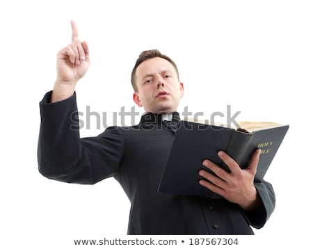 Priest Bible Sermon Stock photo © lenm