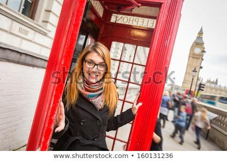 Woman next to big ben Stock photo © IS2