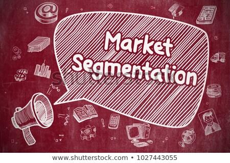 Market Segmentation - Doodle Illustration on Red Chalkboard. Stock photo © tashatuvango