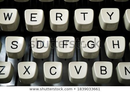 daktilo · klavye · kırmızı · harfler · ofis · mektup - stok fotoğraf © devon