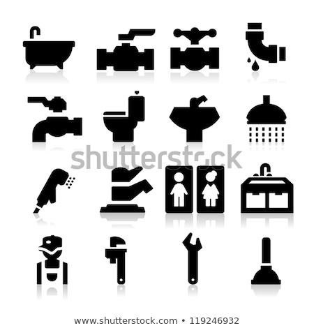 водопроводчика туалет службе туалет вектора строительство Сток-фото © popaukropa