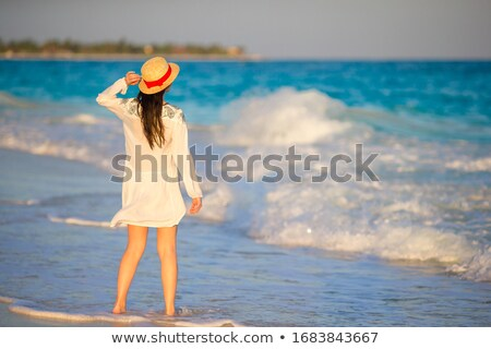 Woman in a Turquoise Dress Stock photo © filipw