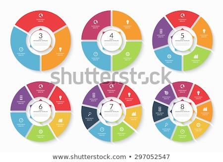 круга Инфографика шаблон набор современных дизайна Сток-фото © Genestro