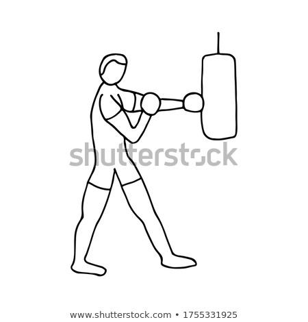 boksör · eğitim · vektör · boks · spor · atlet - stok fotoğraf © rastudio
