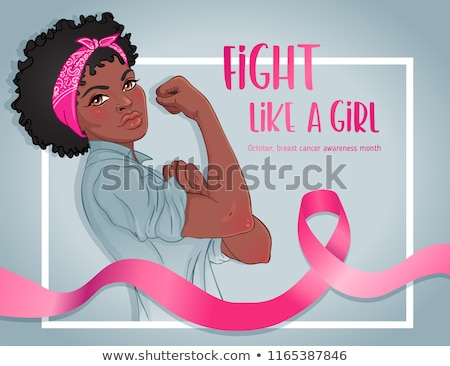 Fight like a girl Breast Cancer Awareness concept  Stock photo © cienpies