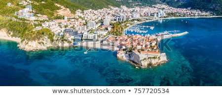 view at sea bay and old town of budva in montenegro stock photo © bezikus