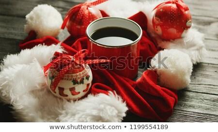 ストックフォト: クリスマス · 周りに · ホットドリンク · クローズアップ · ショット