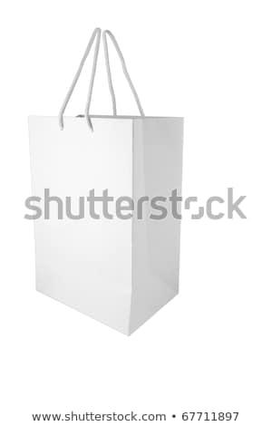 Xxl Isloated White Paper Bag On White Background Stok fotoğraf © SuriyaPhoto