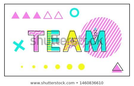 Takım poster geometrik doğrusal stil soyut Stok fotoğraf © robuart