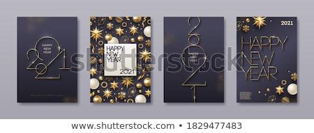 vidám · karácsony · üdvözlőlap · szett · mikulás · apa - stock fotó © voysla