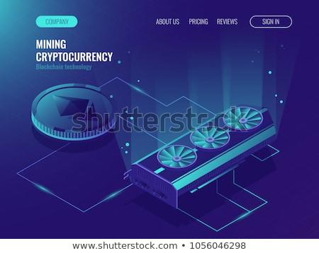 mineração · fazenda · ícone · assinar · negócio · computador - foto stock © smoki