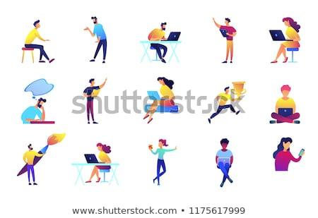 Computer ontwikkelaars web internet schilderij Stockfoto © robuart