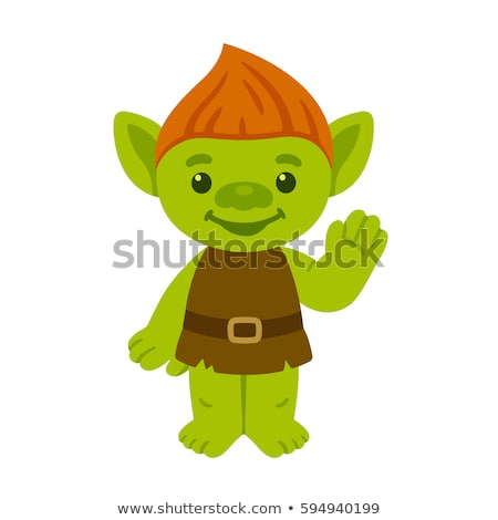 Cartoon Troll Waving Stock photo © cthoman
