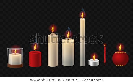 Rood witte kaarsen kaars christmas nieuwjaar Stockfoto © Lana_M