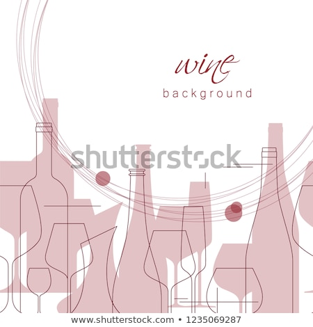 wine shop   modern line design style web banner stock photo © decorwithme