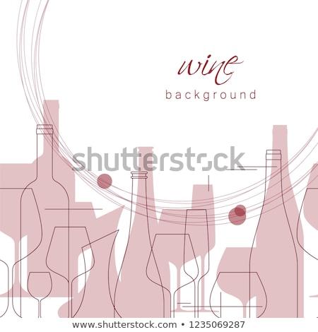Stok fotoğraf: şarap · alışveriş · modern · hat · dizayn · stil
