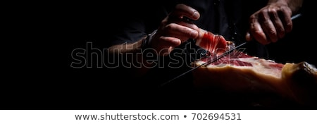 meat cutter with ham stock photo © grafvision