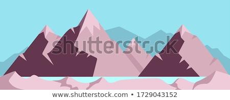 Mountain area sunrise Stock photo © raywoo