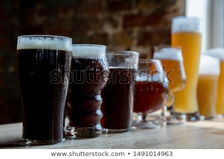 Craft Beer with Foam, Big Glass Mug Alcohol Drink Stock photo © robuart