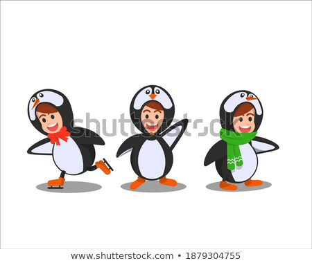 驚いた ペンギン 漫画 実例 見える ストックフォト © cthoman