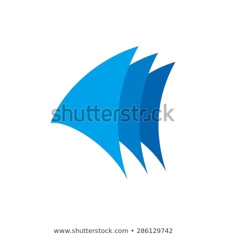 Сток-фото: аннотация · лодка · парусного · логотип · символ · вектора