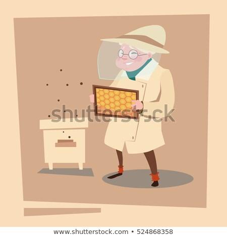 abelha · mel · vetor · favo · de · mel · reflexão - foto stock © robuart