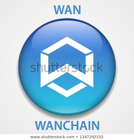 wan   wanchain the icon of coin or market emblem stock fotó © tashatuvango