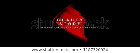 Makeup banner template for online beauty store. Poster design with beauty products and cosmetic. Onl Stock photo © ikopylov