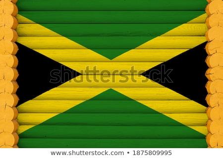 Huis vlag Jamaica rij witte huizen Stockfoto © MikhailMishchenko