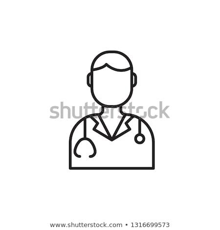 personnage · cardiologue · médecin · homme · femme · vecteur - photo stock © olllikeballoon