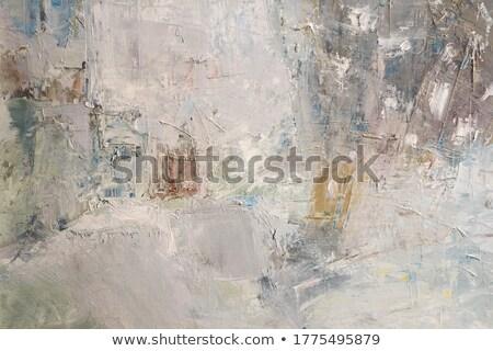 古い 青 描いた グランジテクスチャ ラフ 木製 ストックフォト © marylooo