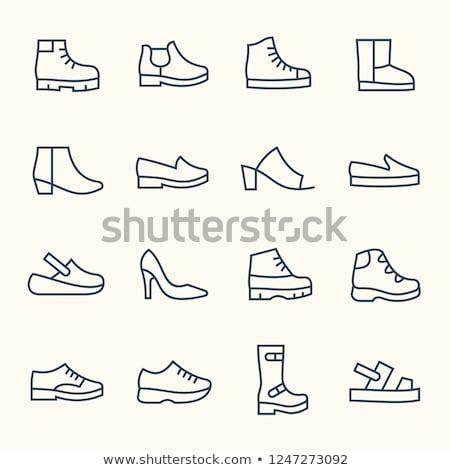 Plattform Schuh Symbol Farbe Design Mädchen Stock foto © angelp