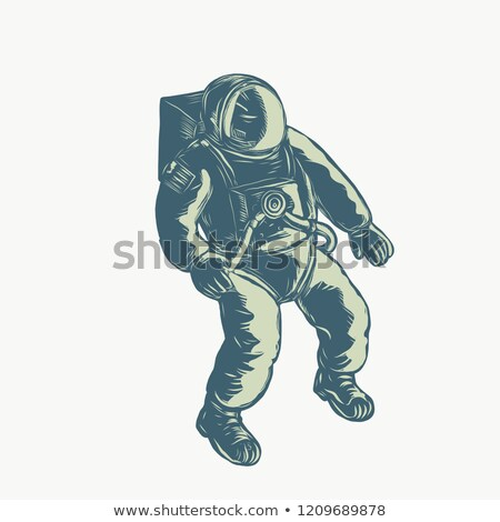 Astronaut Floating in Space Scratchboard  Stock photo © patrimonio