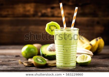 Banaan kiwi vers plakje vruchten voedsel Stockfoto © tycoon