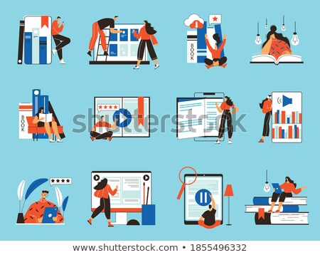 Electronic Version of the Book in Gadget Vector Photo stock © robuart