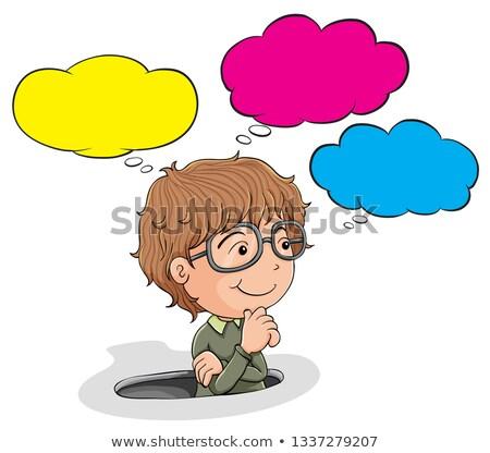 Nerd jongen illustratie ontwerp teken Stockfoto © colematt