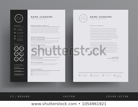 Professional Cv Resume Template Design Vector Stock photo © pikepicture