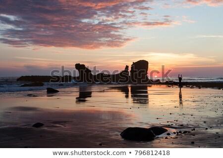 ランドマーク · ラ · 岩 · 風景 · 砂漠 · 青 - ストックフォト © benkrut