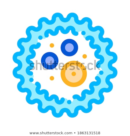 Microscopic Bacterium Microgerm Vector Sign Icon Stock photo © pikepicture