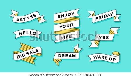 Lint banner ingesteld kleur tekst Stockfoto © FoxysGraphic