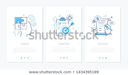 business planning   line design style icons set stock photo © decorwithme