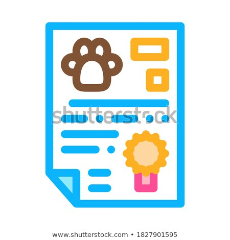 Stock foto: Official Animal Passport Icon Vector Outline Illustration