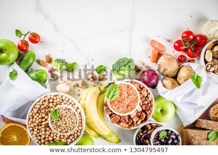 High Fiber Foods on white wooden background Stock photo © Illia
