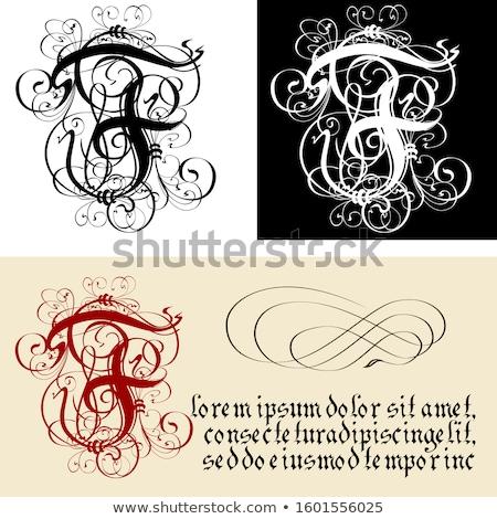 Decorativo gothic lettera f calligrafia vettore eps8 Foto d'archivio © mechanik