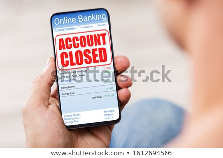 Mobile Phone With Account Closed Message On Screen Stock photo © AndreyPopov